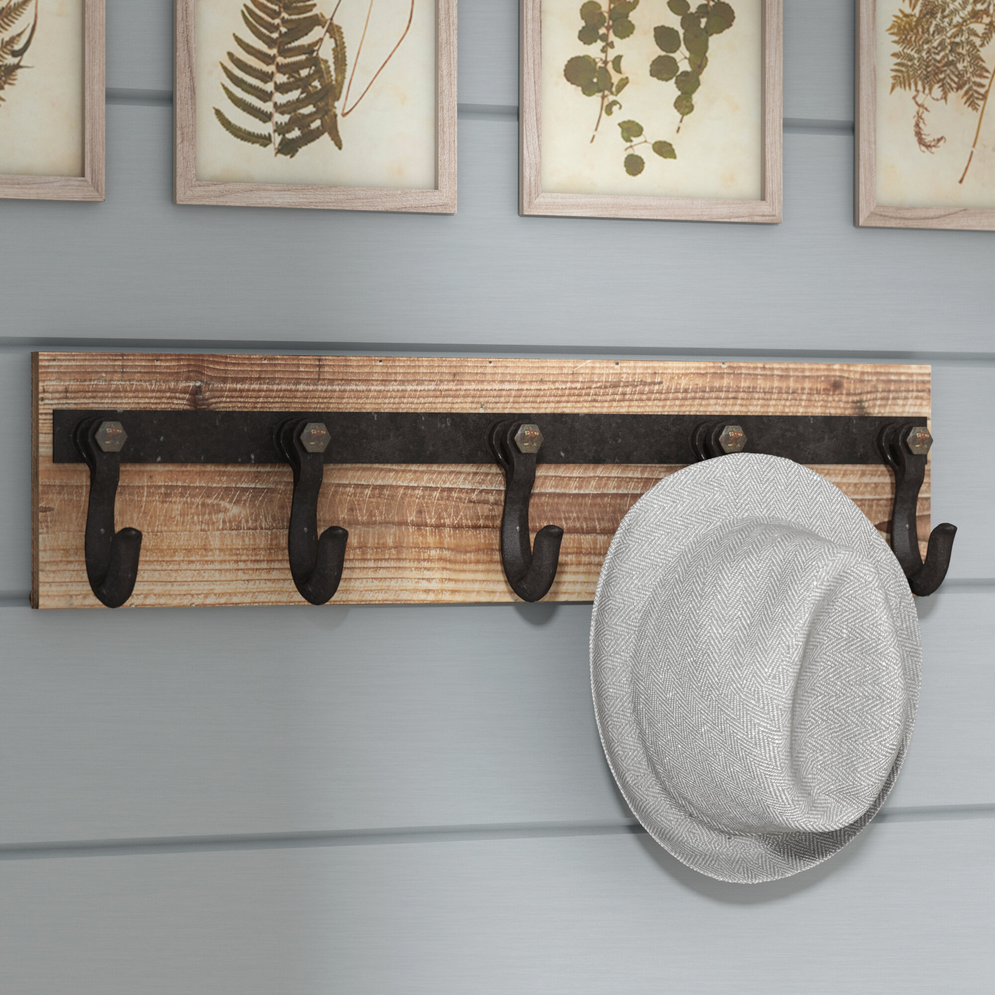 wall wood safco medium rack wooden oak office magnifier coat hook contempo mounted racks raw