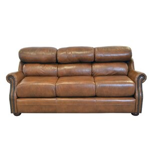 Beacon Genuine Top Grain Leather Sofa by Westland and Birch