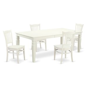 Beesley 5 Piece Linen White Dining Set DarHome Co