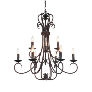 Maddy 9-Light Chandelier by CWI Lighting