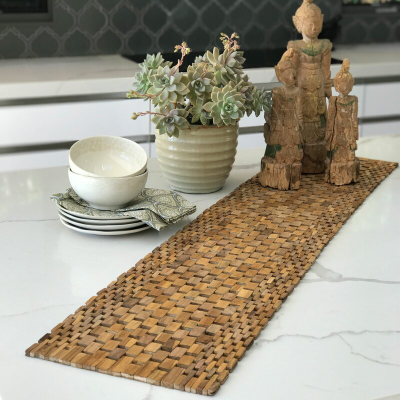 Genial Recycled Teak Table Runner