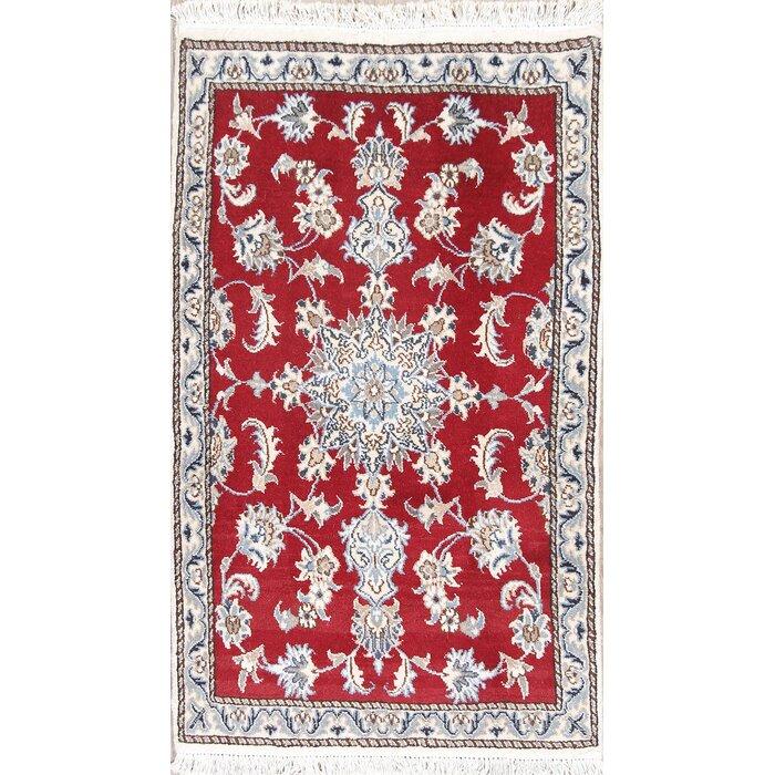 Wadebridge Red Fl Nain Persian Style Wool Rug 4 2 X 6
