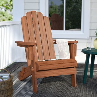 Imane Solid Wood Folding Adirondack Chair