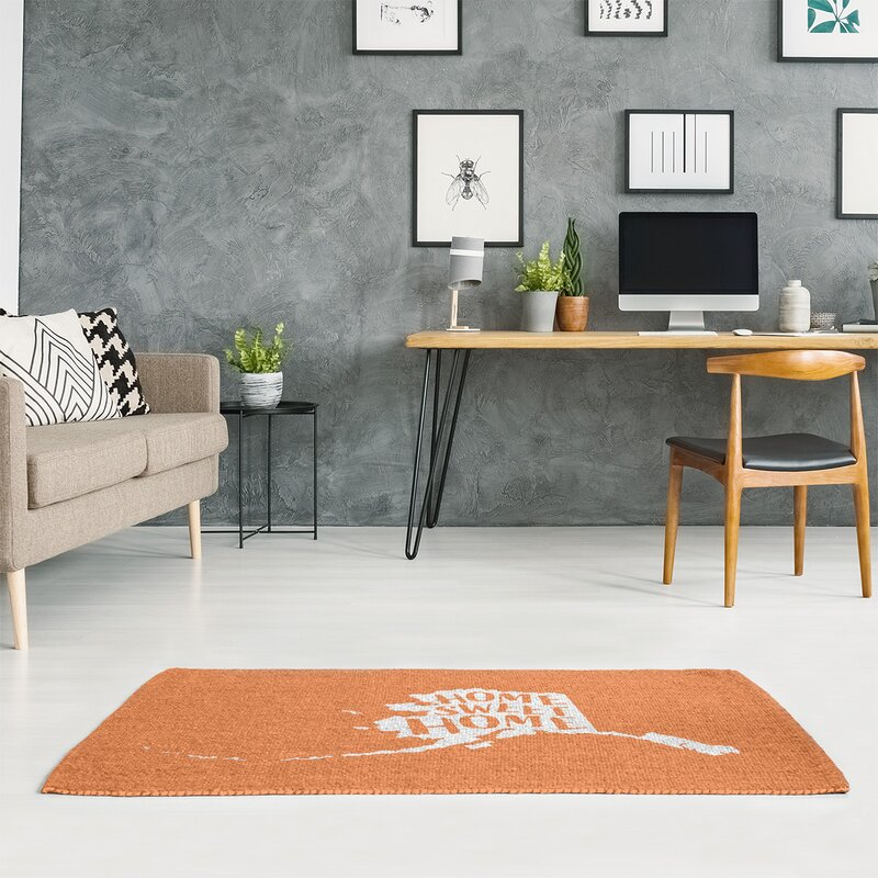 East Urban Home Home Sweet Alaska Poly Chenille Rug Wayfair