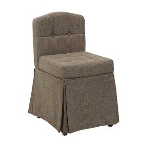 Simonetti Skirted Camelback Vanity Swivel Side Chair