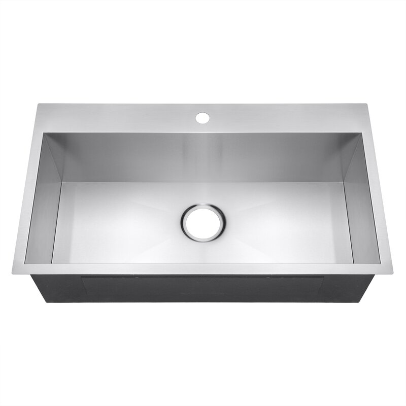 Akdy 32 X 18 Drop In Top Mount Stainless Steel Single Bowl Kitchen