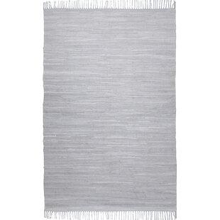 Handwoven Cotton Grey Rug