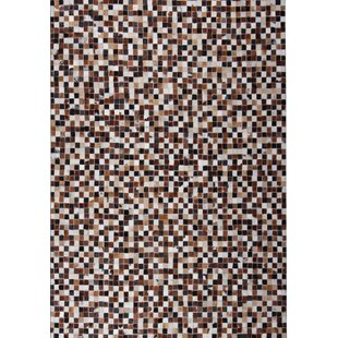 Affordable Kelton Hand-Woven Dark Brown/White Area Rug By Brayden Studio