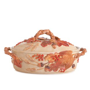 Harvest Covered Vegetable Serving Bowl