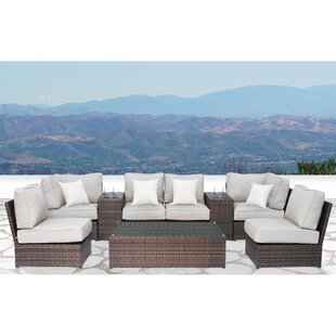 Simmerman 9 Piece Sectional Set with Cushions