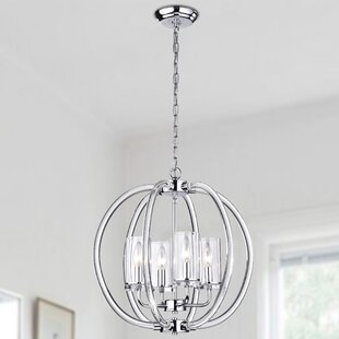 Reviews Rhea 4-Light Globe Chandelier By Wellyer Inc.