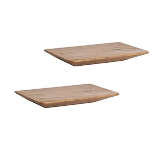 2 Piece Wall Shelf Set (Set Of 2) By World Menagerie