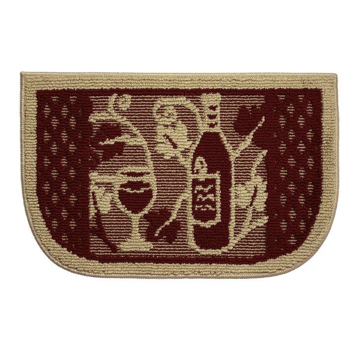Textured Loop Wine Tasting Wedge Slice Kitchen Area Rug
