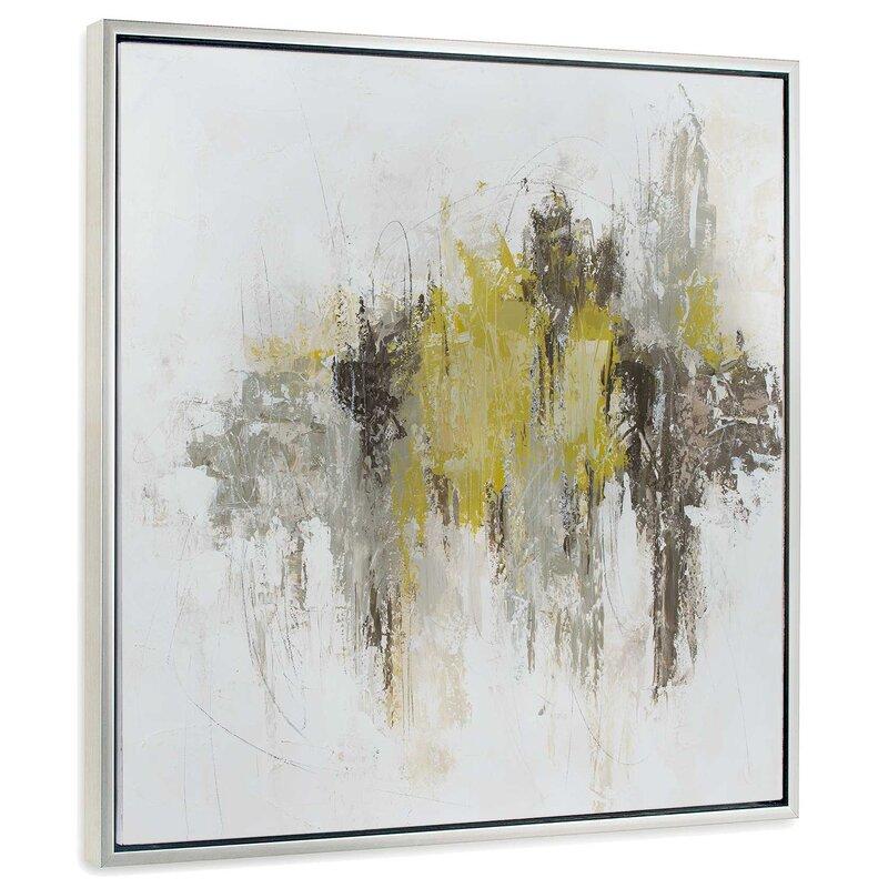 Orren Ellis \'Saffron Abstract I\' Framed Painting   Wayfair