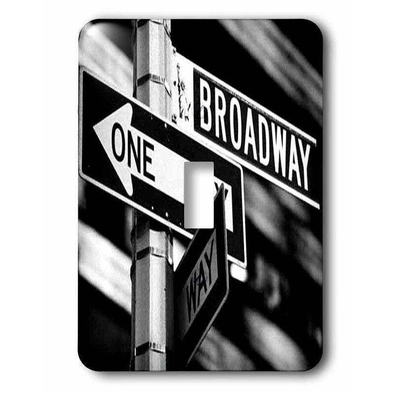 3drose Broadway 1 Gang Toggle Light Switch Wall Plate Wayfair