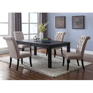 Sibert 5 Piece Solid Wood Dining Set Charlton Home