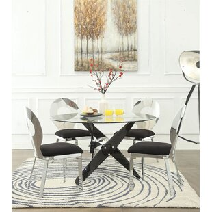 Wabbaseka 5 Pieces Dining Set by Orren Ellis Cool