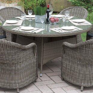 One Allium Way Filippo Wicker Dining Table