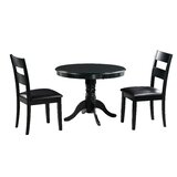 Darwin 3 Piece Solid Wood Dining Set by Alcott Hill®