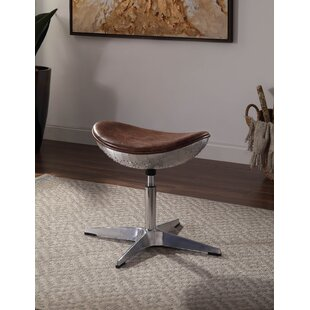 Wesley Top Grain Leather 20 Swivel Bar Stool by 17 Stories