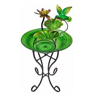 Continental Art Center Glass/Metal Decorative Fountain Bowl Stand