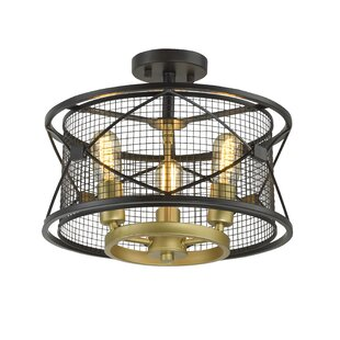 Crase 3-Light Semi Flush Mount by 17 Stories