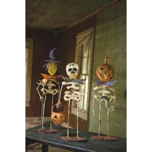 halloween creature 3 piece statue set