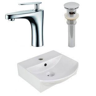 Find the perfect Ceramic U-Shaped Bathroom Sink with Faucet and Overflow ByAmerican Imaginations