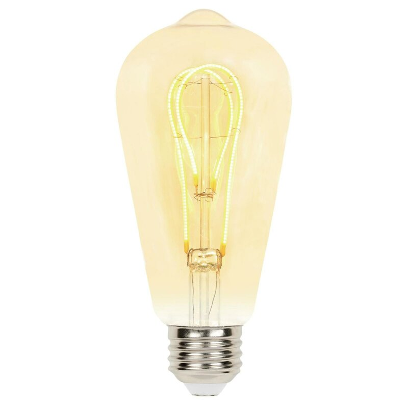 Westinghouse Lighting 4 Watt 25 Watt Equivalent St20 Led Dimmable Light Bulb 2000k E26 Medium Standard Base Wayfair
