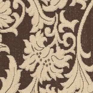 Inexpensive Bexton Cream / Chocolate Indoor/Outdoor Rug By Alcott Hill