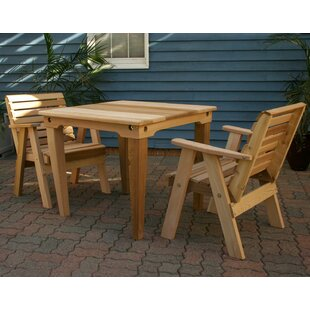 Sabatino 3 Piece Solid Wood Pub Table Set