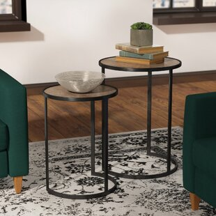 Williston Forge Maher 2 Piece Nesting Tables