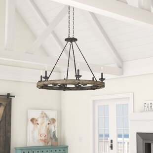 Yasmin 6-Light Wagon Wheel Chandelier by ..