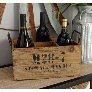 Cronin Wood 6 Bottle Tabletop Wine Bottle Rack