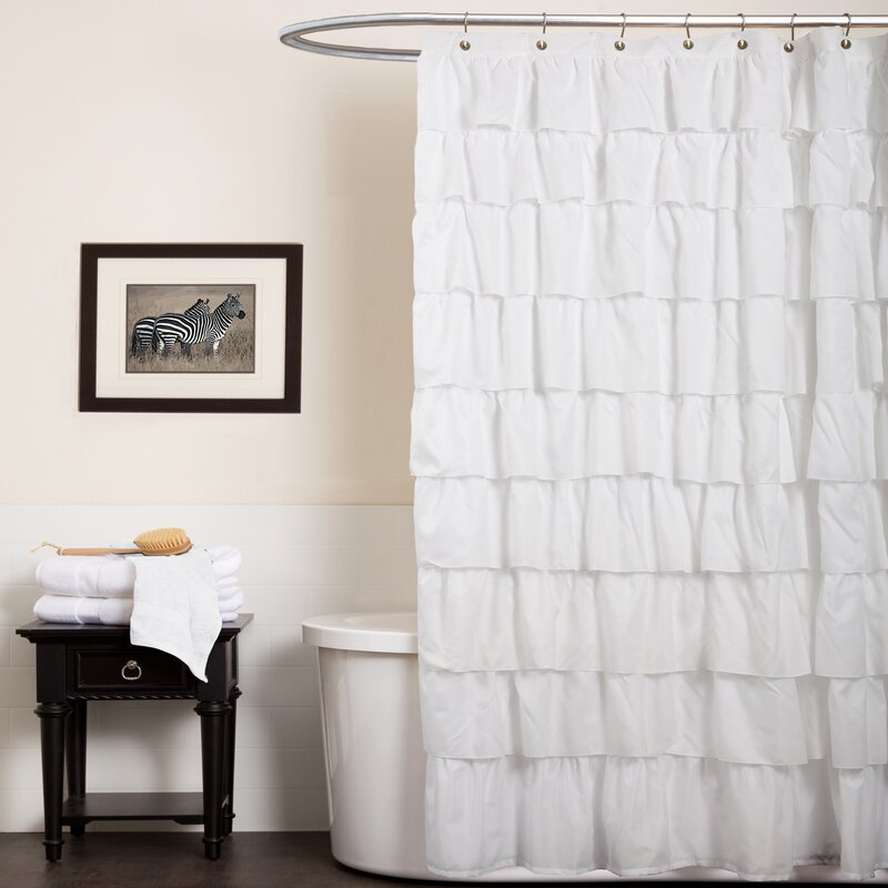 Orona Ruffle Shower Curtain & Reviews   Joss & Main