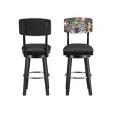 Basinger Swivel Bar Stool by Red Barrel Studio®