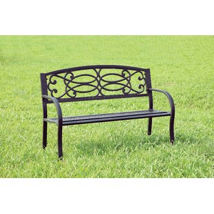 Claret Patio Metal Park Bench