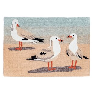 Boller Gulls Sand Indoor/Outdoor Area Rug
