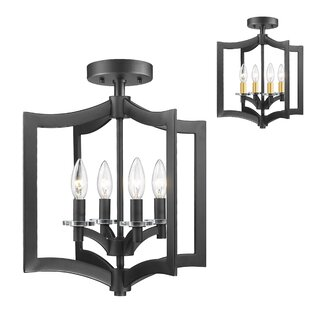 Lilou 4-Light Semi Flush Mount by Mercer41