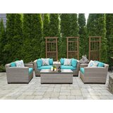 Romford 6 Piece Rattan Sofa Seating Group with Cushions by Sol 72 Outdoor