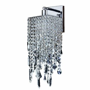 Cohen-Arazi Crystal 1-Light Armed Sconce by Everly Quinn