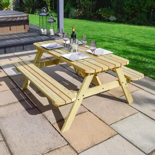 Oakham Rounded Picnic Bench By Sol 72 Outdoor
