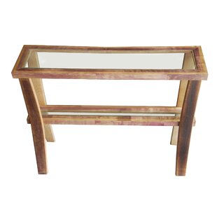 Bottles & Wood Wine Barrel Console Table