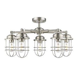 Kaeden 5-Light Semi-Flush Mount by Gracie Oaks