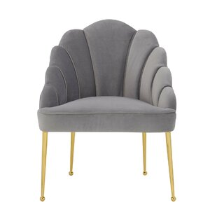 Waymon Velvet Barrel Chair by Everly Quinn