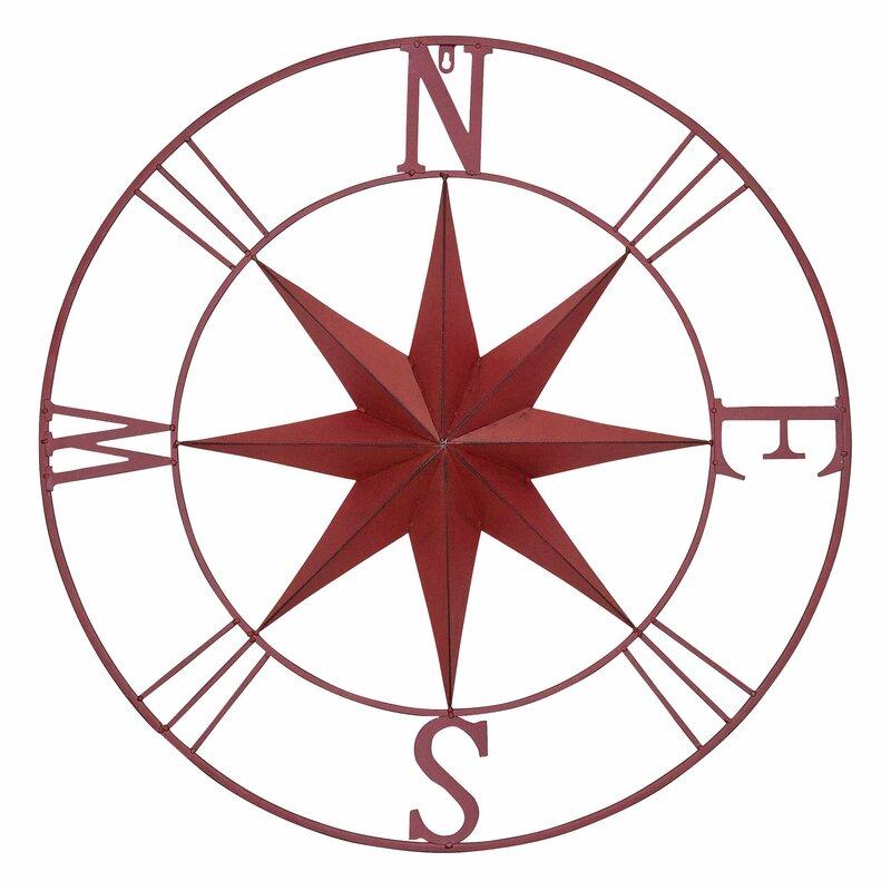 Lovely Antique Metal Compass Rose Wall Décor & Reviews | Joss & Main KN59