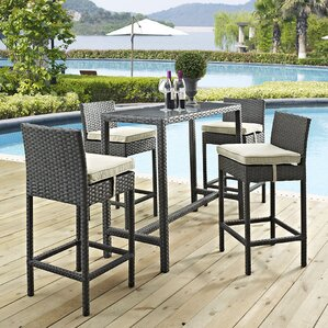 Sojourn 5 Piece Bar Height Dining Set With Cushion