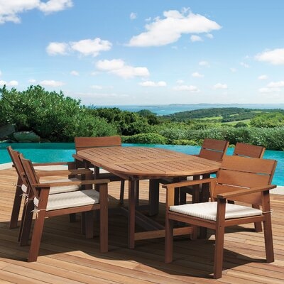 Trotta International Home Outdoor 7 Piece Dining Set by Highland Dunes Savings