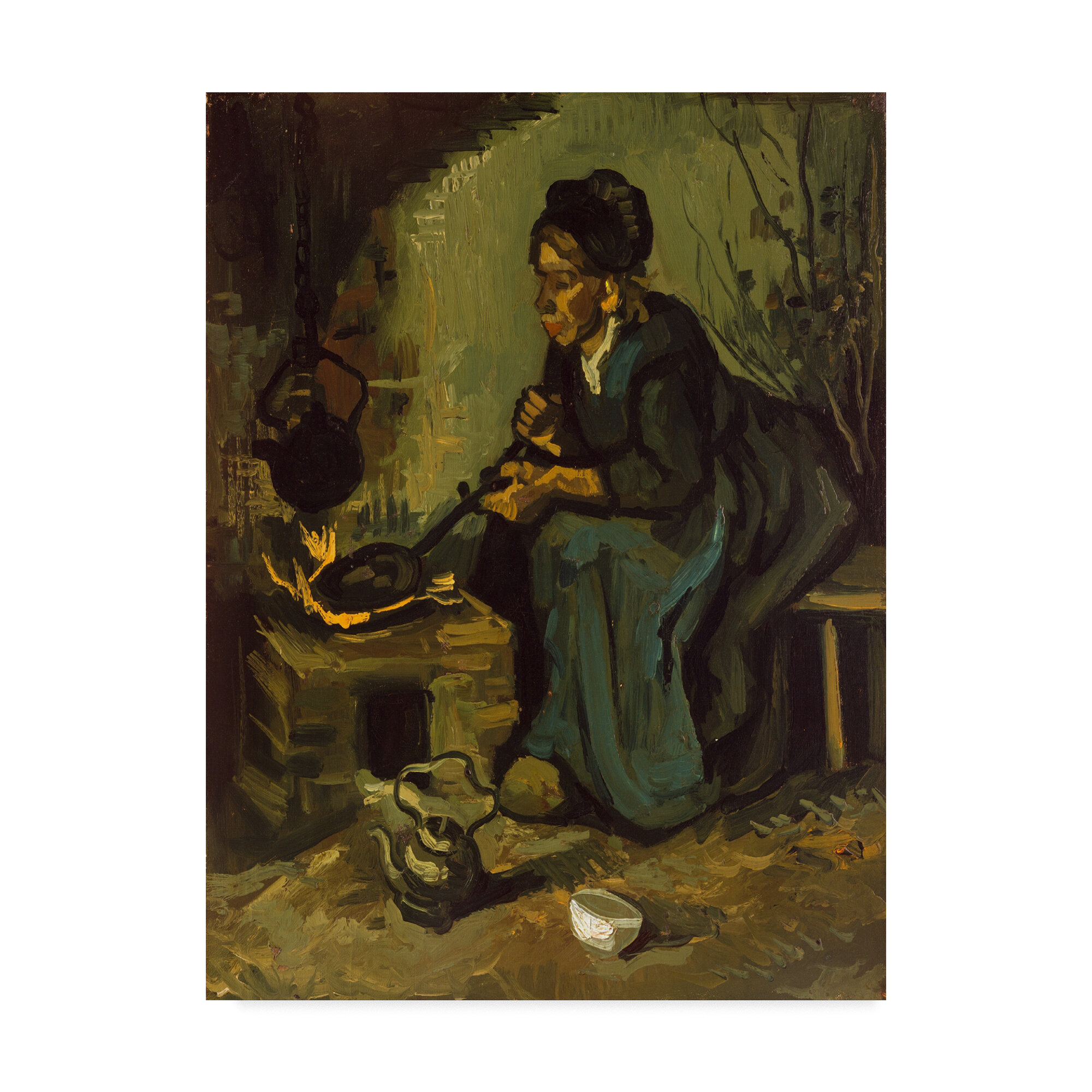 Portrait of a girl by Vincent Van Gogh Giclee Fine Art Print Repro on Canvas