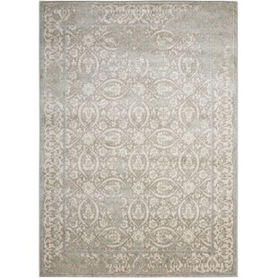 Bargain Angelique Gray and Ivory Area Rug By Lark Manor